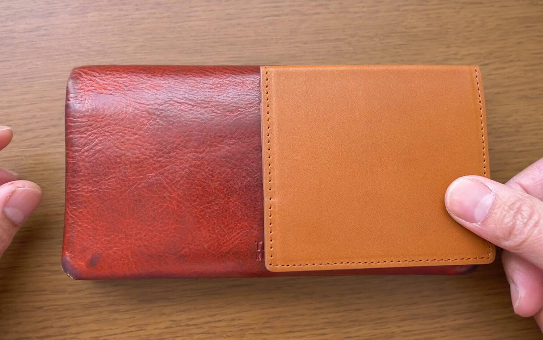 薄いマネークリップと長財布を比較