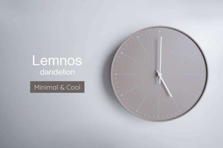 Lemnos dandelion を購入。シンプルでおしゃれ、ミニマルなデザインの掛け時計が好き